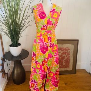 Vintage 1960's Psychedelic Tank Dress With Belt
